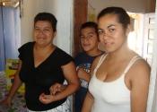 Lourdes with her kids